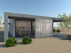 'SUMMER HOUSE' is a 90sqm one-level house model, meant to be constructed by timber frame wooden construction. The basic idea is to 'bring' the sun light to t...