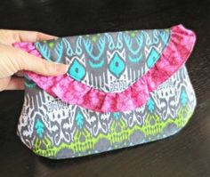 The Ruffled Date Night Clutch - With Magnetic Snap PDF Sewing Pattern