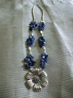 'TIBETAN SILVER LAPIS NECKLACE' is going up for auction at  4pm Wed, Jul 4 with a starting bid of $5.