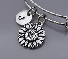 GRAPHICS /& MORE Classy Modern Day Hippie Flower Child Antiqued Bracelet Pendant Zipper Pull Charm with Lobster Clasp