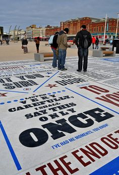20/2/12 - Another photo of the Comedy Carpet in Blackpool, this quote from one of my favourite comedy shows from the 80s.