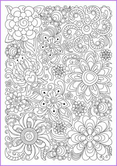 Abstract Doodle Zentangle Coloring pages colouring adult detailed advanced printable Kleuren voor volwassenen coloriage pour adulte anti-stress kleurplaat voor volwassenen Adults and children Coloring page PDF printable by ZentangleHouse