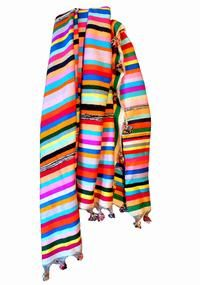 stripes colorful scarf