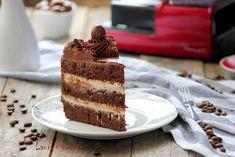Tort cu cafea, crema de ricotta si piure de castane Ricotta, Tiramisu, Latte, Sweets, Ethnic Recipes, Gummi Candy, Candy, Goodies, Tiramisu Cake