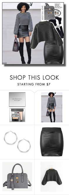 """Romwe.7."" by smajicelma ❤ liked on Polyvore featuring Burberry, gift and sale"