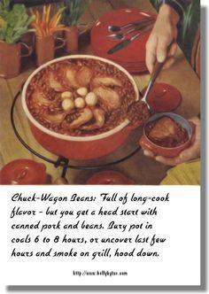 Chuck Wagon Beans Recipe Card