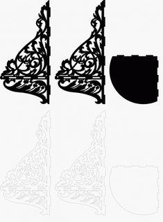 Scroll saw corner shelf - Patterns