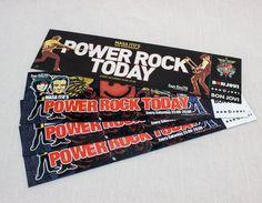 Set of 4 Bon Jovi Japan Promotion Sticker For FM Power Rock Today Masa Ito