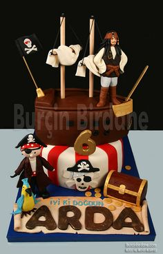 Pirates of Caribbean Cake