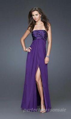 Sleeveless Strapless Prom Dresses Purple Long Prom Dresses 00696