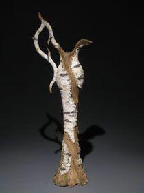 *Eric Serritella - Ceramic trompe l'oeil birch pitcher