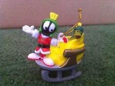 RARE WARNER BROS. MARVIN THE MARTIAN PVC FIGURE TOY CHRISTMAS ORNAMENT