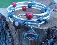 Ohio State wrap around bracelet