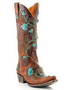 a9a7a60b32ee Old Gringo Ladies Brass Aqua Abby Rose Western Boot on Wanelo Boho Sandals