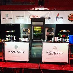 A view of the Main Stage at #IronForkMIA where chefs will do battle on #Monark approved premium appliances! #MonarkStories