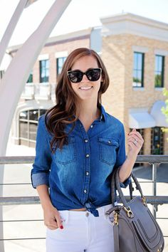 jillgg's good life (for less) | a west michigan style blog: my everyday style: 2 ways to style chambray with Gordmans! #gotitatgordmans