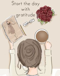 Start the Day with Gratitude  Gratitude  by RoseHillDesignStudio