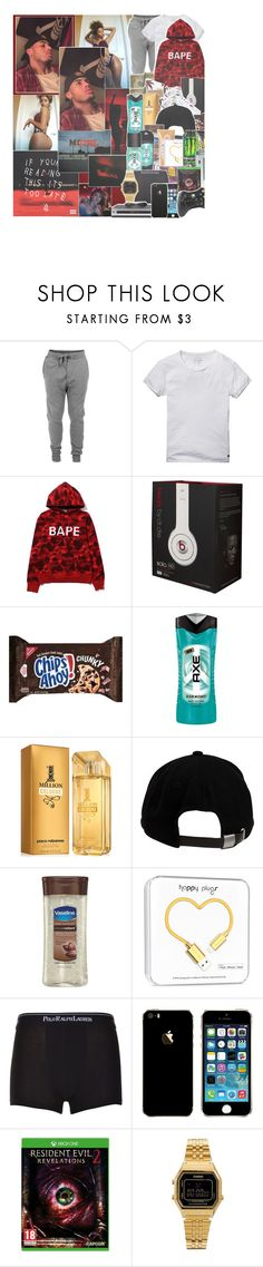 """""""moment of love"""" by encantado-r ❤ liked on Polyvore featuring Diesel, Scotch & Soda, Beats by Dr. Dre, HUF, Retrò, Axe, Paco Rabanne, Brixton, Vaseline and Johnson's Baby"""