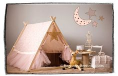 Kids Ruffle Teepee Play Tent IN STOCK by TeepeeandTent on Etsy