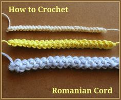 A Romanian Cord adds makes for a beautiful tie or embellishment. Learn how to crochet a Romanian Cord.
