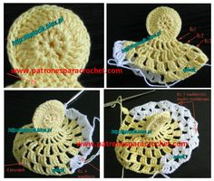 This is the proposal of reader Fatima Athaíde. Crochet Bikini Pattern, Crochet Patterns, Crochet Chicken, Crochet Placemats, Christmas Angels, Easter Baskets, How Beautiful, Doilies, Crochet Projects