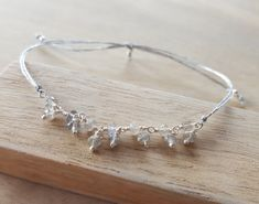 Adjustable bracelet with 925 Sterling silver  by AtelierAdelaideFR