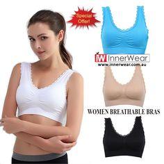 Women Breathable Bras Seamless Fitness Lace Bra Tops Underwear  #buy #Bras #Fitnessbra #lacebra #sexybra #womentops #womenunderwear #breathablebras #innerwear