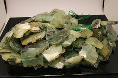 1strand  natural prehnite faceted flat tumbled by 3yes on Etsy