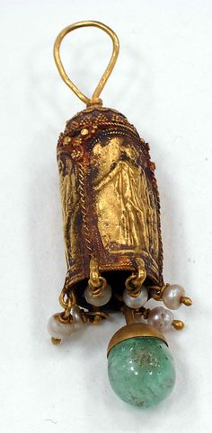 Earring  Period: Roman Period, later than Date: A.D. 4th century or later Geography: Egypt