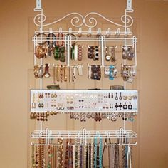 Your Entire Jewelry Collection In Easy Reach! there has got to be a way to DIY this.