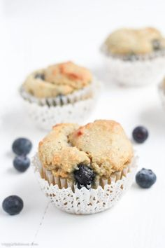 Gluten Free Blueberry Muffins (With Almond Flour) - Gluten Free Recipes | Easy Recipes by Veggie Balance