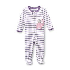 Sears Baby Clothes Little Wonders Newborn Girl's Footie Pajamas  Too Busy To Sleep