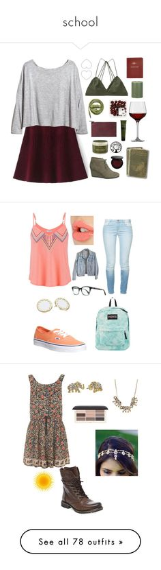 """""""school"""" by xchristinaxreyesx ❤ liked on Polyvore featuring H&M, Victoria's Secret, Urbanears, Aesop, Crate and Barrel, SheaMoisture, maurices, Bobbi Brown Cosmetics, Violeta by Mango and WALL"""