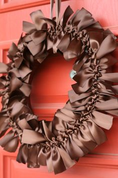 Ribbon Wreath-try in red?