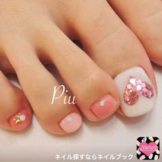 Opting for bright colours or intricate nail art isn't a must anymore. This year, nude nail designs are becoming a trend. Here are some nude nail designs. Pretty Toe Nails, Cute Toe Nails, Fancy Nails, Cute Acrylic Nails, Trendy Nails, Pink Nails, Pink Toes, Feet Nail Design, Toe Nail Designs