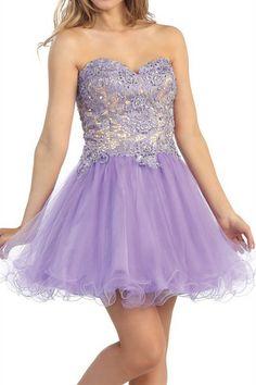 Prom Dresses, Homecoming Dresses, Formal Dresses, lavender prom dresses, light purple prom dresses, short prom dresses, party dresses, pageant dresses, fancy dresses, strapless dresses, corset dresses