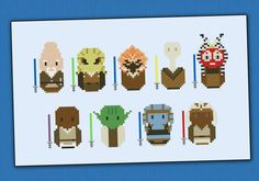 Starwars Jedi Masters parody - Cross stitch PDF pattern