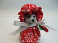 Welcome to my shop     Snowflake is an adorable handmade country mouse ornament, Shes so adorable she will warm anyone heart      She stands