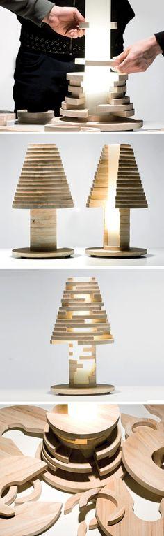 Lampe Babele par MID - Journal du Design → Ludique et modulable à l'infini