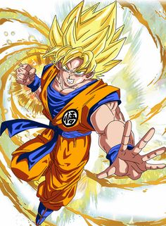 Goku Super Saiyan (Efecto) by Frost-Z on @DeviantArt