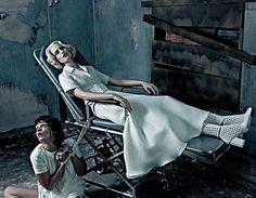 This is pretty much everything: Karolina Kurkova (IMG) and Crystal Renn (Ford) for Interview. Shot by Steven Klein. Crazy gorgeous.