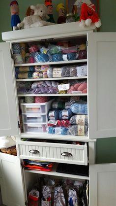 LOVE my knitting/yarn cabinet my husband ordered from ebay! Knitting Yarn, Shoe Rack, Husband, Cabinet, Storage, Ebay, Home, Clothes Stand, Purse Storage
