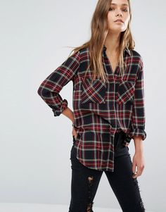 Image 1 of New Look Tartan Check Shirt