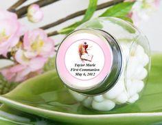 Communion Confirmation Mini Glass Candy Jars Favors