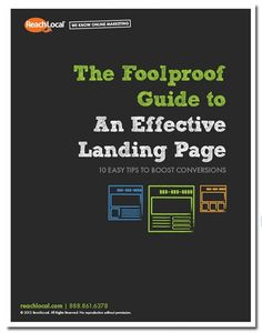 Ebook: Guide to An Effective Landing Page