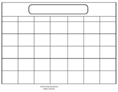 monthly calendar free template