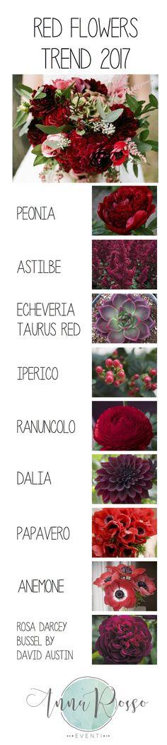 Flower trend 2017 – red – Anna Rosso Eventi
