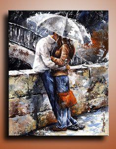 Canvas Print of  Love Acrylic Painting Wall Decor Wall by itarts, $128.00 #paintings #originalartwork