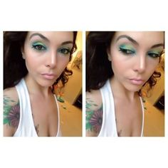 …or let the eyeshadow be the focal point of your face. | Tropical Eyes Are The New Smokey Eyes And They're Mesmerizing