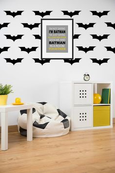 Superhero Decals Bat Decal Bat Kid Decor by SimplyLoveCreations